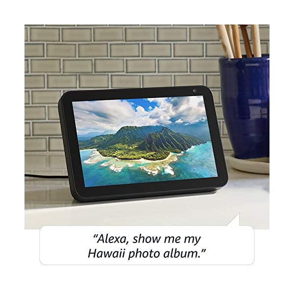 Echo Show 8 -- HD smart display with Alexa – stay connected with video calling - Charcoal 4