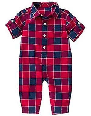 Baby Apple Red Check Checked One-Piece by Gymboree (0-3 months)