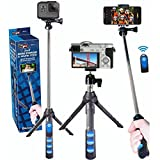 Vidpro MP-15 2-in-1 Mini Tripod/Selfie Stick with Bluetooth Remote Control