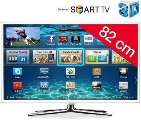 Samsung televisor LED Smart TV 3D UE32ES6710 HD TV 1080p, 32 Pulgadas (82 cm) 16/9, 400 Hz, DVB-T HD, 3D Ready, Ethernet, HDMI X3, Time Shift, USB 2.0 X3, con WiFi +