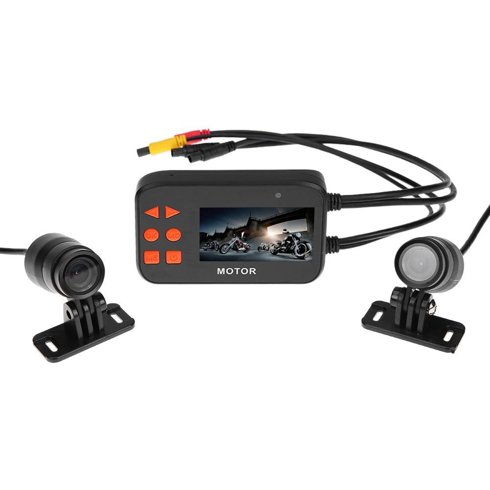 2.7inch LCD Motorcycle DVR Camcorder Waterproof Dual Lens Video Recorder