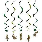 Beistle 57618 5-Pack Monkey Whirls, 3-Feet 4-Inch
