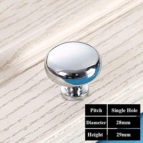 1Pcs Door Handle Furniture Handles Single Hole Solid Sphere Zinc Alloy Cabinet Knobs Concise Wardrobe Kitchen Cabinet Drawer - (Color: White)