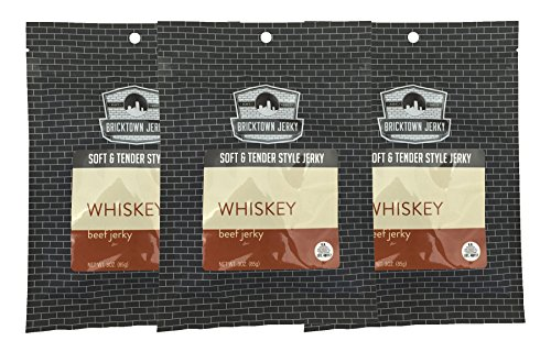Whiskey Soft and Tender Style Best Beef Jerky - 3 PACK - Try Our Best Tasting Soft Beef Jerky - 9 total ()