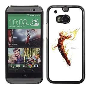 EJOY---Cubierta de la caja de protección la piel dura para el ** HTC One M8 ** --Antorcha Humana
