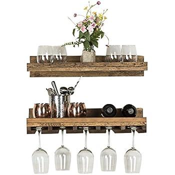 Amazoncom Oenophilia Wine Bar Wall Rack Kitchen Dining