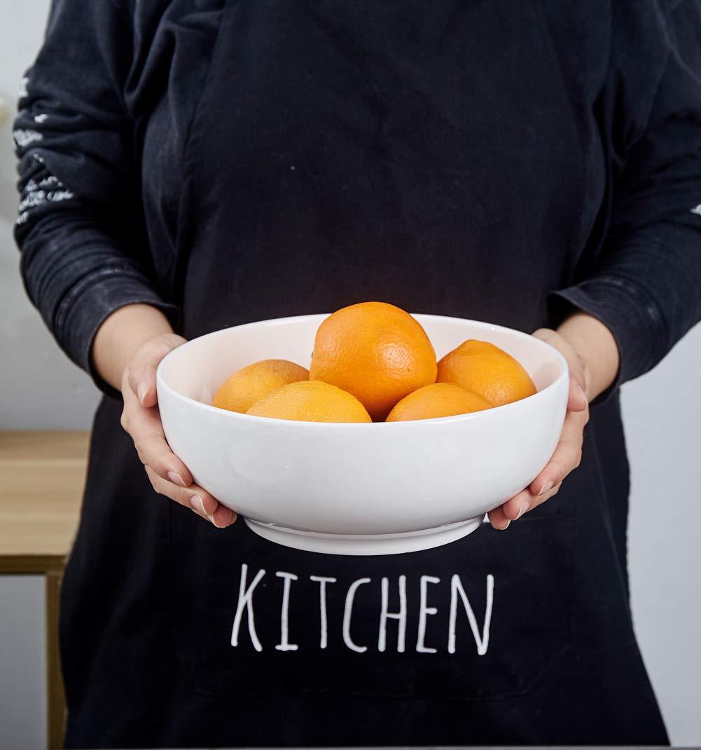 TGLBT 2I30 Super Large Porcelain Serving Bowls - Salad/Pasta Bowl Set - 2 Packs, White