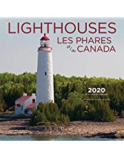 Lighthouses Of Canada 2020 Bilingual English French Square Wall Calendar