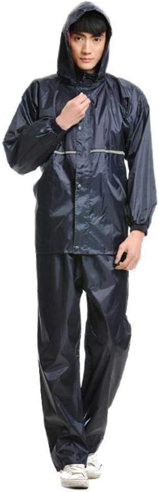 Size Xl Zscwmb Pantalones Impermeables Para Lluvia Hombres Y Mujeres Reflexivos Montando 2 Piezas Impermeable Traje Para Adultos Ropa De Lluvia Dividida Ropa Funcional Coche Y Moto