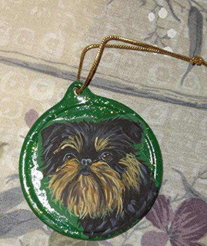 Brussels Griffon Dog Christmas Ornament Custom Hand Painted