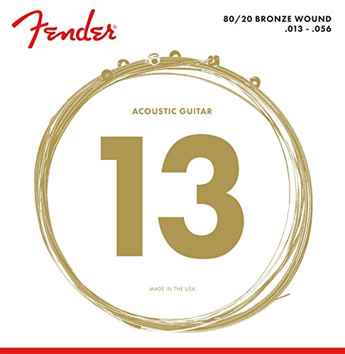 Fender 60L 0730070408 Acoustic Guitar 80/20 Ball End Strings