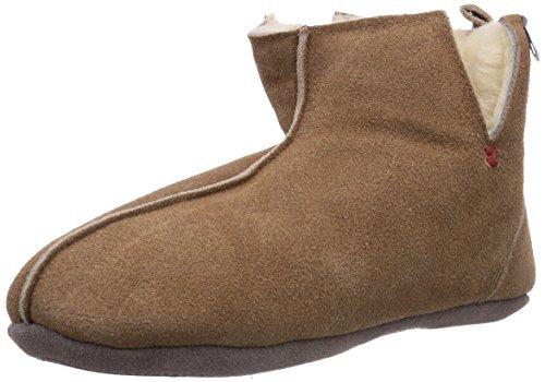 Gevavi WoMen 330 Pantoffeln Kastanie Warm Lined Slippers Brown - Braun (Braun(chestnut) 25)