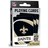"MasterPieces NFL New Orleans Saints Playing Cards,Black,4"" X 0.75"" X 2.625"""