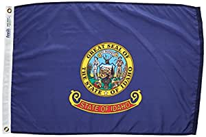 Idaho State Flag 2x3 ft. Nylon SolarGuard Nyl-Glo 100% Made in USA to Official State Design Specifications by Annin Flagmakers. Model 141350