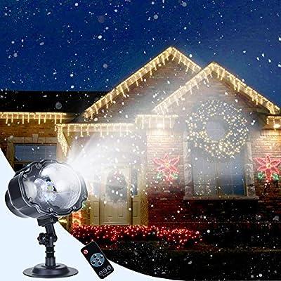Soontrans Proyector Navidad LED Nevadas con Control Remoto ...