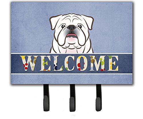 Caroline's Treasures BB1406TH68 White English Bulldog Welcome Leash or Key Holder, Large, Multicolor