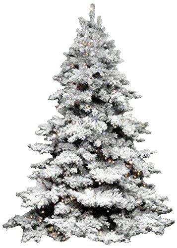Vickerman 6 5 Ft Flocked Alaskan Full Pre Lit Christmas Tree