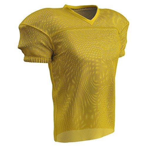 CHAMPRO Fire Football Jersey; Adult Gold, Small