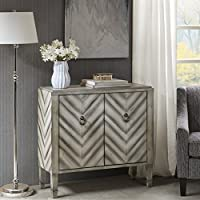 Dresden Chevron Accent Chest Antique Grey See below
