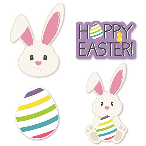 Hoppity Bunny - Big Dot of Happiness Hippity Hoppity - DIY Shaped Easter Bunny Party Cut-Outs - 24 Count