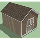 12x16 Shed Plans - How to Build Guide - Step by Step - Garden/Utility/Storage