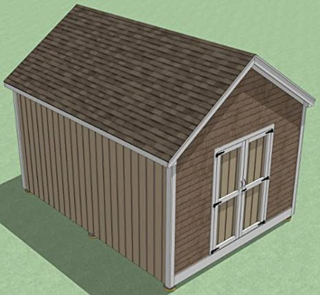 12x16 Shed Plans How To Build Guide Step By Step Garden Utility Storage