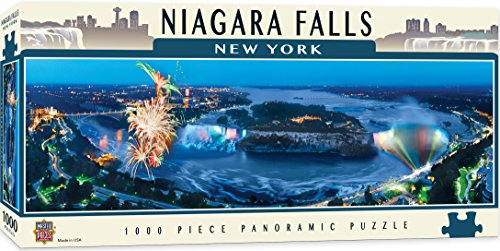 MasterPieces National Parks Panoramic Jigsaw Puzzle, Niagara Falls, New York, Photographs by James Blakeway, 1000 ()