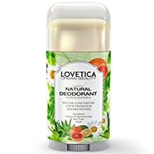 All Natural Effective Underarm Deodorant (Unscented) • Neutralizes Odors and Prevents Natural Sweat or Excessive Sweating Caused by Stress or Exercise • Best Travel Deodorant for Men & Women.
