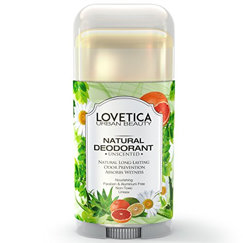 All Natural Deodorant Stick for Sensitive Skin • Neutralizes Odors and Prevents Natural or Excessive Sweat Caused by Stress or Exercise • Best Travel Deodorant for Men & Women (Unscented).