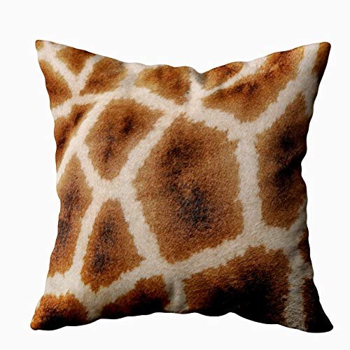 - Capsceoll giraffe pattern wild animal print gift Decorative Throw Pillow Case 20X20Inch,Home Decoration Pillowcase Zippered Pillow Covers Cushion Cover with Words for Book Lover Worm Sofa Couch