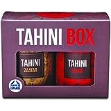 Yoffi Tahini Box Tahini Sauce 2 Flavors Skhug and Zaatar 6.7 Ounce Each Can