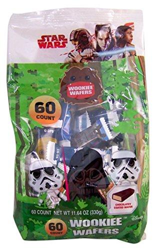 Star Wars Halloween Wookiee Wafer Cookie Treats, 60 (Snack Foods For Halloween Party)