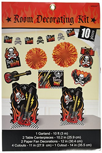 Rock On Heavy Metal Themed Party Room Decorating