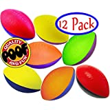 POOF-Slinky 500S/12 9.5-Inch Foam Footballs, Case of 12 Assorted Colors