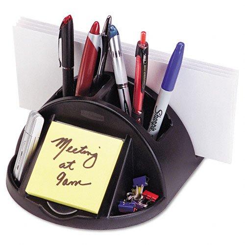 Rubbermaid Desk Director, Plastic, 6.875 Inch Width x 6.75 Inch Depth x 3.625 Inch Height, Black -