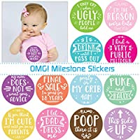 Baby Girl Milestone Photo Stickers - My First OMG Moments