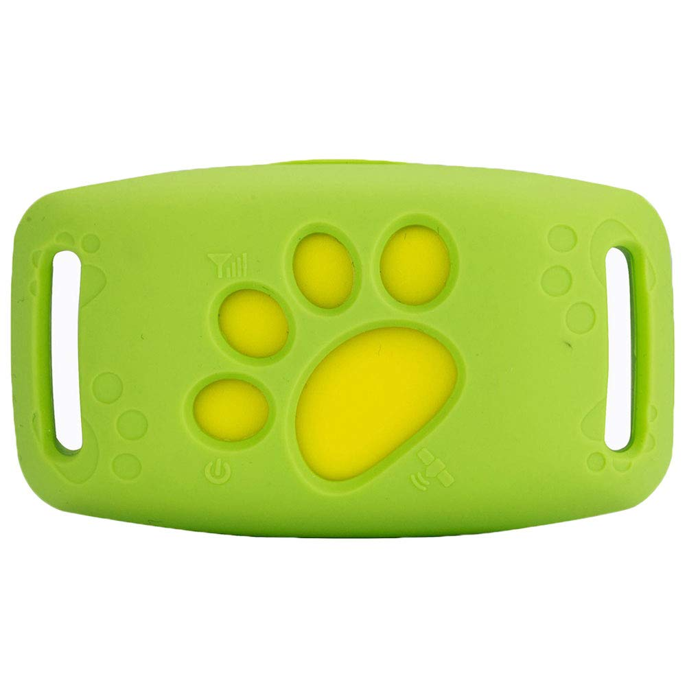 Green GPS Smart AntiFall Pet Locator Mini Dog Cat Positioner Reminder Wireless Intelligent Tracking Device