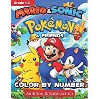 POKEMON, MARIO, SONIC COLOR BY NUMBER, Addition &