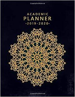 Academic Planner 2019-2020: Golden Anti-stress Mandala Print ...