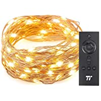 TaoTronics 33 ft 100 LED String Lights with RF Remote...