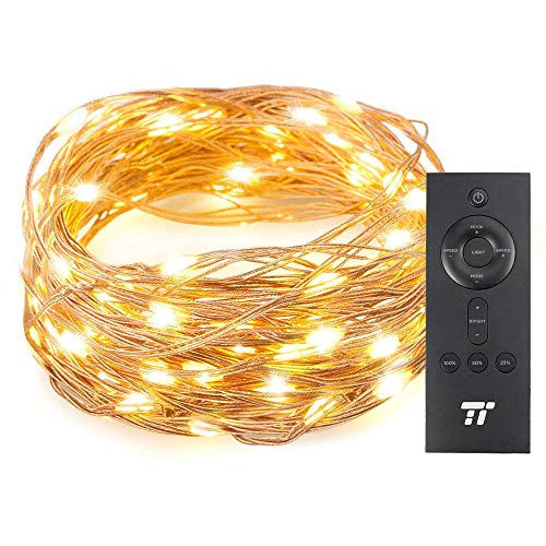 TaoTronics 33ft 100 LED String Lights with RF Remote, Ultra Soft Copper Wire for Outdoor and Indoor, Waterproof Decorative Lights for Bedroom, Patio, Garden, Gate, Yard and More