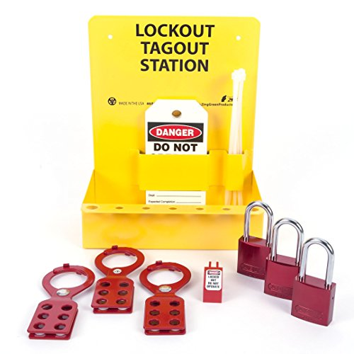 ZING 2723 RecycLockout Mini Lockout Station with Aluminum Padlocks - Stocked by Zing Green Products