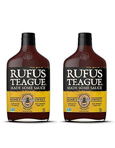 Rufus Teague HONEY SWEET BBQ SAUCE – (2-Pack) 16oz Bottles – World Famous Kansas City BBQ – Thick & Rich made with Premium Ingredients. Award Winning – Gluten-Free, Kosher & Non-GMO