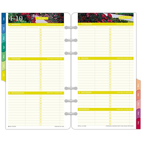 day timer two page per week refill 2016 12 months