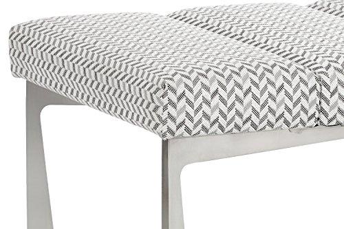 Sunpan Modern Freda Keller Bench, Grey Fabric by Sunpan Modern (Image #3)