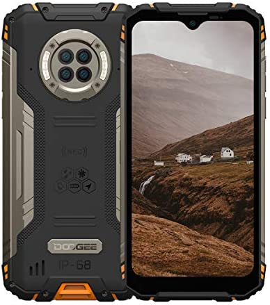 Rugged Phone Unlocked DOOGEE S96 Pro 8GB+128GB Infrared Night Vision Helio G90 Octa Core Waterproof Android Phone, 48MP+20MP, 6.22″ + Global 4G LTE GSM AT&T T-Mobile Dual SIM Phone 6350mAh(Orange)