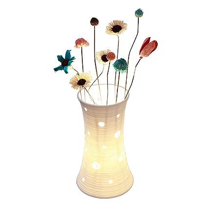 arreglos de Flores secas lámpara de Mesa de cerámica ...