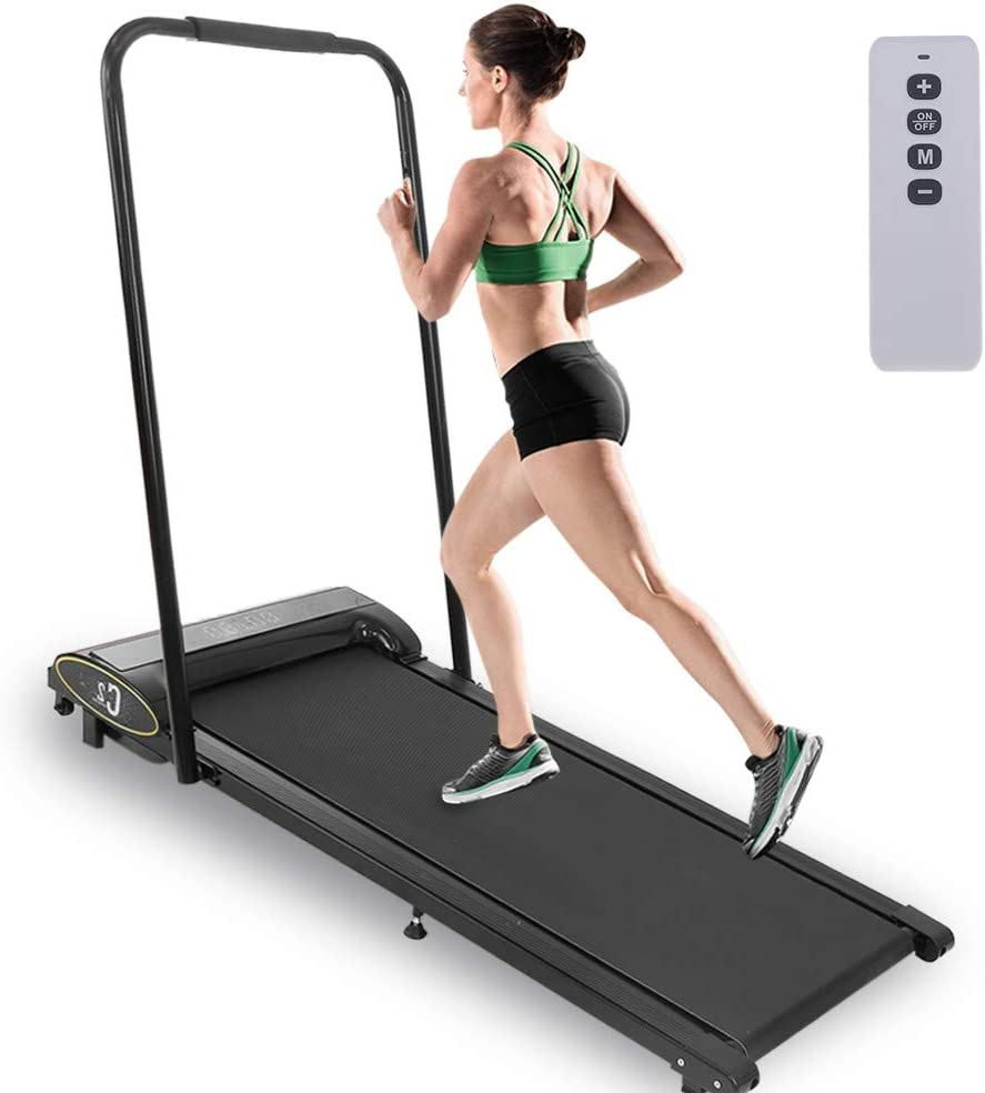 Electric Walking Pad Treadmill Fitness LCD Display Home Office Exercise Machine