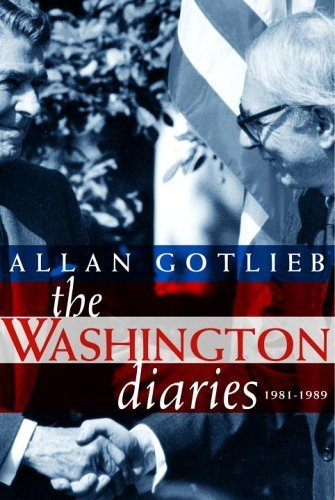 Ebook cover from The Washington Diaries: 1981-1989 by Allan Gotlieb