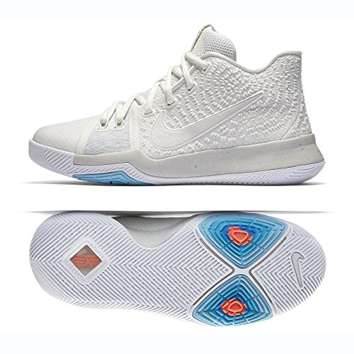 Bone Kid Footwear - Nike Kyrie 3 (GS) 859466 101 Ivory/Pale Grey/Light Bone Kids Basketball Shoes (6.5Y)